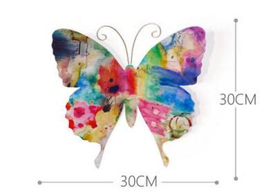 創意立體鐵藝蝴蝶壁飾壁掛牆飾 客廳背景牆面裝飾品挂件