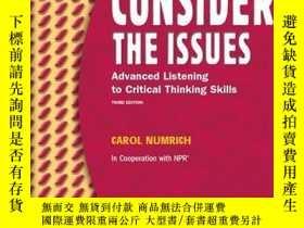 二手書博民逛書店Consider罕見The Issues (3rd Edition)Y255562 Carol Numrich