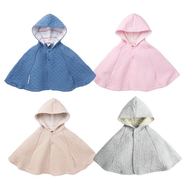 連帽斗篷 外套 空氣棉 素面 披風 男寶寶 女寶寶 保暖 Augelute Baby 47025