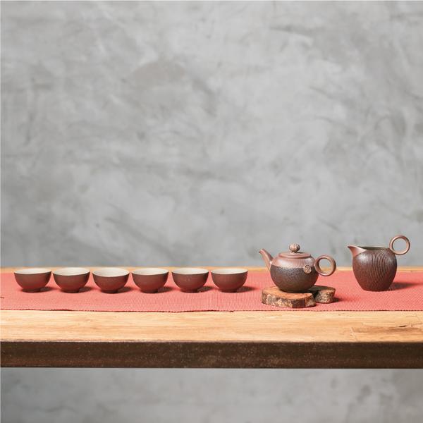 陸寶LOHAS Pottery【原礦岩藏石蕈茶組】 獨特工藝釉面 典藏木盒