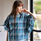 ■Chocol Raffin■  經典的格紋配色 亮眼注目 特色的荷葉袖 增添造型