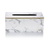 【Finara費納拉】CEO方形大面紙盒-(雪白銀狐大理石紋)