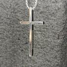 鈦鋼Immanuel以馬內利上帝與我們同在十字架項鍊(附60公分鈦鋼鏈)
