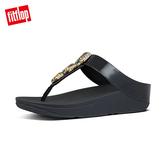專櫃熱銷推薦7折  【FitFlop】FINO METALLIC FLECK TOE-THONGS奢華仿金箔寶石夾腳涼鞋-女(靚黑色)