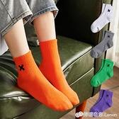 襪子男女情侶薄款街頭潮流襪ins風純色襪夏天透氣吸汗中筒襪
