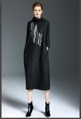 《澤米Jammy》秋裝新款寬鬆針織連身裙 歐美長裙冬季中長款打底裙