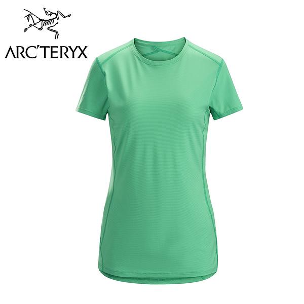 Arc'teryx 始祖鳥 Phase SL  輕量內層短袖圓領衫 女款 夜光綠 #16243