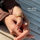 MD韓【A09200147】麻花金屬戒指3色
