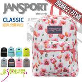 JANSPORT後背包包帆布包大容量防潑水JS-43502多色