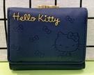 【震撼精品百貨】Hello Kitty_凱蒂貓~三麗鷗 KITTY日本珠扣短夾/零錢包-蝴蝶結藍#12426