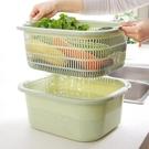 瀝水籃 廚房多功能瀝水籃 雙層塑料洗菜盆...