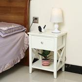促銷款 免安裝鬥櫃 簡約實木床頭櫃 客廳櫃 小戶型窄臥室儲物收納櫃 歐式多功能
