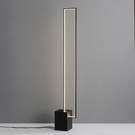 后現代創意線條客廳落地燈藝術床頭臥室設計師樣板房立式方形燈