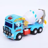 大號音樂慣性玩具車攪拌車水泥罐車兒童男孩玩具工程挖掘土機卡車-Rtwj54