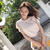 韓版修身氣質蕾絲無袖T恤