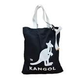 KANGOL袋鼠深藍色帆布肩背托特包-NO.6025300880