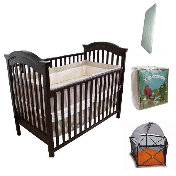 【限量促銷】童心 布朗特美式大床超值組合|嬰兒床