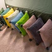 沙發靠墊抱枕套靠枕長方形枕頭北歐簡約床頭護腰【極簡生活】