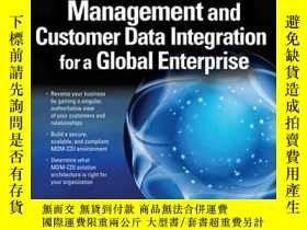 二手書博民逛書店Master罕見Data Management And Customer Data Integration For