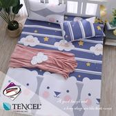 天絲床包二件組 單人3.5x6.2尺 南瓜塔 頂級天絲 3M吸濕排汗專利 床高35cm  BEST寢飾