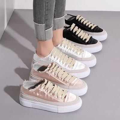女士厚底新款韓版百搭內增高單鞋鬆糕底小白鞋 萬客居