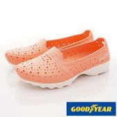 【GOODYEAR】Q彈防水洞洞透氣機能鞋(粉桔)-WP82823(22cm-25.5cm)