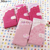 【DD】Sanrio三麗鷗iPhone 7口袋拼接彩繪皮革筆記本式皮套iPhone 7plus iPhone 6 6S 6plus手機皮套