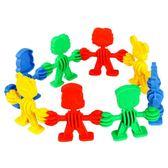 特價動物寶寶積木小精靈娃娃拼插積木塑料兒童益智幼兒園早教玩具