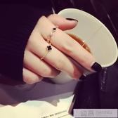 日韓鑲鑚戒指女潮人時尚韓版關節戒版簡約學生細指環  99購物節