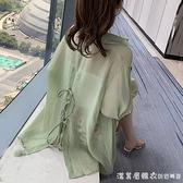 防曬衣女2021新款夏季百搭洋氣設計感小眾雪紡襯衫外穿長袖薄外套 美眉新品