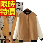 棒球外套-棉質保暖個性正韓別緻女夾克1色59h158【巴黎精品】