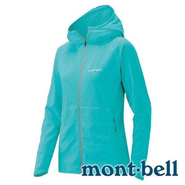 【mont-bell】 Cool Parka UV 排汗連帽T恤 女 『淺松藍』#1114240