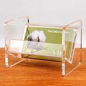 金雕台式名片座透明桌面大容量卡片架座亞克力名片盒收納盒 盯目家
