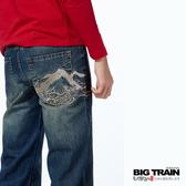 BIG TRAIN  飛驒山直筒褲-中藍-ZM600776