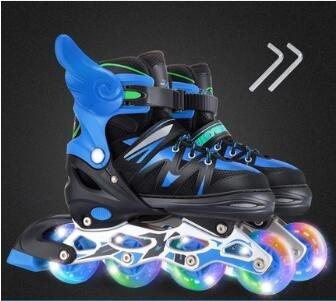 直排輪 輪滑溜冰鞋兒童全套套裝3-5-6-8-10歲初學者可調旱冰4-12男童女童【快速出貨八折下殺】