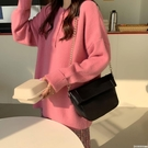 軟皮錬條高級感包包女2019新款韓版小眾設計百搭大氣斜跨單肩包 印象家品