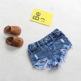 18夏季新款牛仔褲女童破洞短褲小童女寶寶潮流熱褲外穿韓版休閒褲 小巨蛋之家
