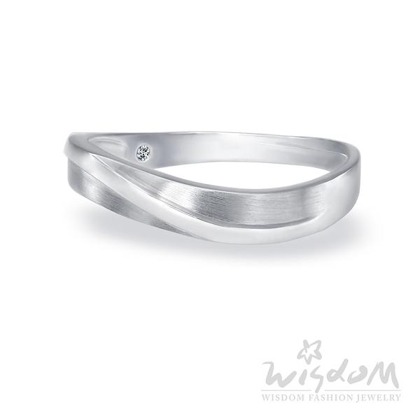 威世登 愛成雙-K金鑽石戒指-男戒 婚戒推薦 情人節禮物 DA03082B-AHXXX