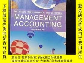 二手書博民逛書店Management罕見Accounting second ed