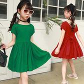 童裝女童連身裙夏季2018新款兒童純棉公主裙