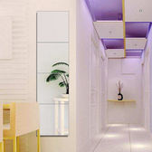 週年慶優惠-全身鏡子穿衣鏡壁掛試衣鏡無框鏡全身鏡黏貼鏡簡約浴室鏡貼牆