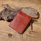 【Solomon 原創設計皮件】威尼斯 植鞣水洗牛革直式中夾零錢包