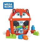 Fisher-Price 費雪 Mega Bloks 美高積木 狐狸造型積木桶(25顆大積木)【佳兒園婦幼館】