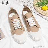 Rampo/亂步純色低幫帆布鞋韓版潮流學生休閒鞋平底板鞋男夏季透氣多色小屋