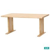 ◎實木餐桌 SAZANAMI 150 LBR 橡膠木 NITORI宜得利家居