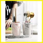 雙12鉅惠 廚房筷子勺子收納桶家用陶瓷筷子筒創意放筷子的架瀝水防霉筷子籠