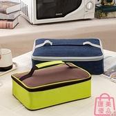 大號便當袋扁平保溫飯盒袋手提包飯包餐盒包兒童長方形【匯美優品】