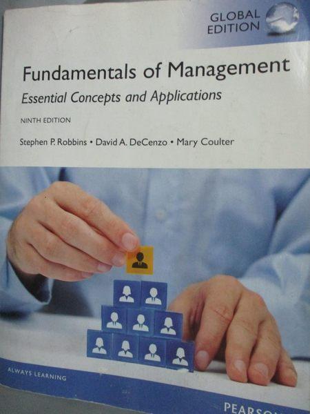 【書寶二手書T9/大學商學_YCO】Fundamentals of Management_Robbins