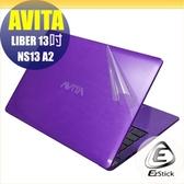 【Ezstick】AVITA LIBER NS13 A2 透氣機身保護貼(含上蓋貼、鍵盤週圍貼、底部貼) DIY 包膜