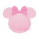 asdfkitty可愛家-米妮造型粉紅色濕紙巾蓋-可重複黏貼-隨身包.溼拖巾.廚房油污濕巾.也可使用-日本製